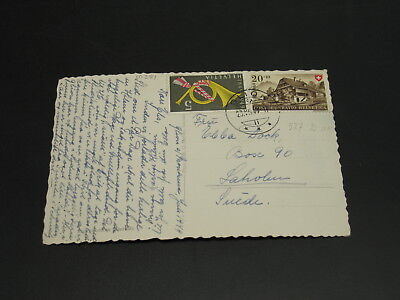 Switzerland 1949 postcard to Sweden *10381