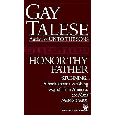Honor Thy Father - Mass Market Paperback NEW Talese, Gay 1992-12-31
