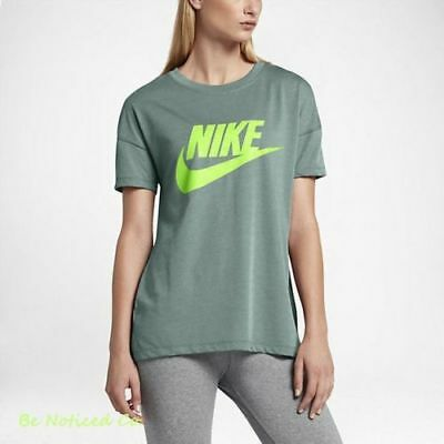 1b9c3b7f5019dd Nike Signal Logo Women s T-Shirt XS S M L Green Volt Gym Casual Training  Top New