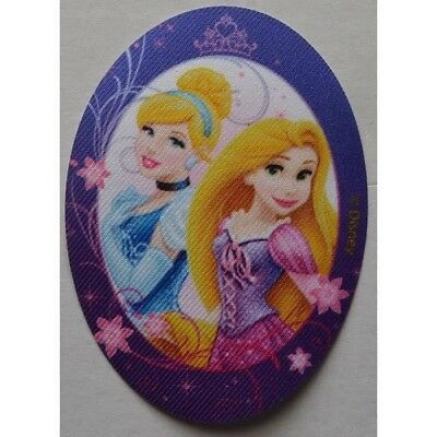 RAIPONCE & CENDRILLON ECUSSON patch thermocollant ovale princesses DISNEY