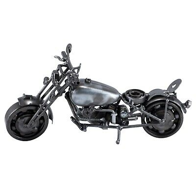 "Nuts 'n Bolts Metal Art Motorcycle Figurine 9""L - Handcrafted - New!"