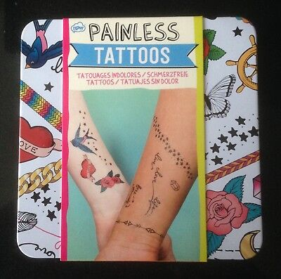 TEMPORARY TRANSFER PAINLESS Tattoos and DIY Bracelets Gift Set - One ...