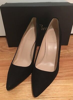 bdf8290ce6e J Crew NIB Elsie Suede Pumps 10 Black  245  A4969 Made in Italy Retail With