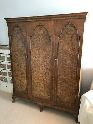 Antique Victorian Wardrobe - Original Mahogany / Cherry Wood