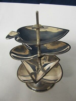 Mexico Sterling Playing Cards Ashtray Set Excellent Condition No Monograms