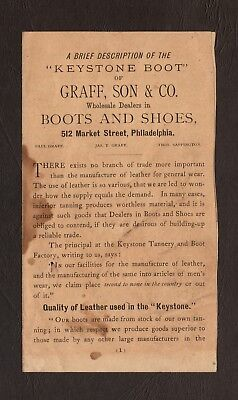 Early 1900's Graff, Son & Co. - Boots and Shoes, Philadelphia Advertising
