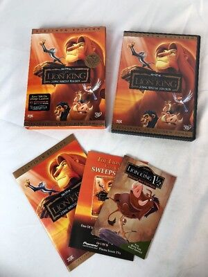 The Lion King (2-DVDs) Platinum Edition DISNEY CIB Complete w/ Inserts