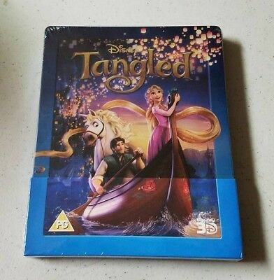 Tangled 3D Blu Ray Steelbook Zavvi Exclusive Disney Collection BRAND NEW