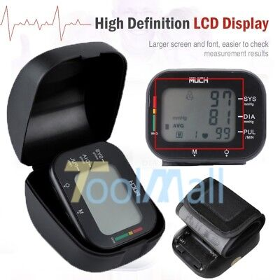 US Automatic Wrist High Blood Pressure Monitor BP Cuff Machine Sensor Tester Kit