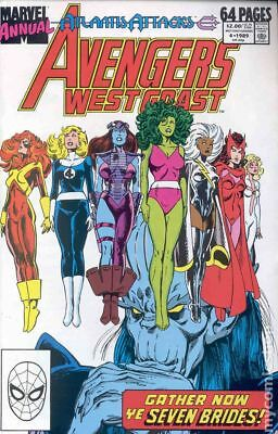 Avengers West Coast Annual #4 1989 FN Stock Image