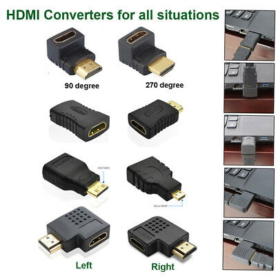 Hot 8 Styles HDMI Male to Female Extension Adapter Converter Micro Cable 2018