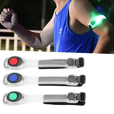 Safety Cycling Flashing LED Light Arm Armband Strap Belt For Night Running DY