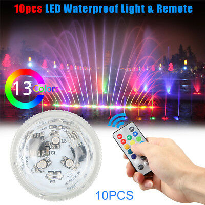 RGB LED Waterproof Underwater Submersible Light for Pool Party Pond Fountain