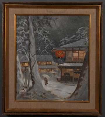JAPANESE SCHOOL, LATE 19TH/EARLY 20TH CENTURY Nocturnal Winter Scene