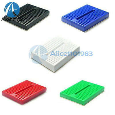 10PCS 170 Tie-Points Color Solderless Prototype Breadboard for Arduino