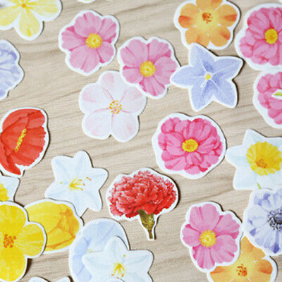 45pcs Flower Papers Stickers For DIY Diary Album Scrapbooking Decoration Z