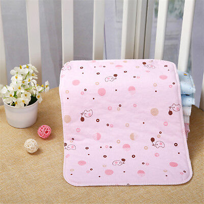 Waterproof Changing Diaper Pad Cotton Washable Baby Infant Urine Mat Nappy Cover