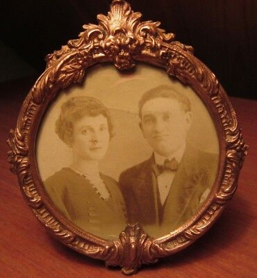 Lovely French Regule (Sort Of Bronze) Antique Photo Frame Rococo Style
