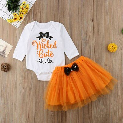 Infant Girl's Halloween Wicked Cute Tulle 2 pcs Set Sizes 0-18M (Free Shipping)