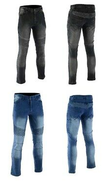 Mens Motorbike Jeans Motorcycle Denim Trousers with Armour Protective pad jeans