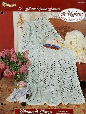 Country Stripes Afghan TNS 12-Hour Time Savers Crochet PATTERN//INSTRUCTIONS