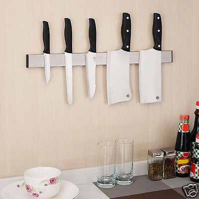 Stable Magnetic Wall Mounted Knifes Holder Steel Knife Storage Kitchen Tidy Tool