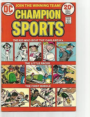 Champion Sports #1  Nov.1973  nice VF+ 8.5  below guide  flat rate shipping