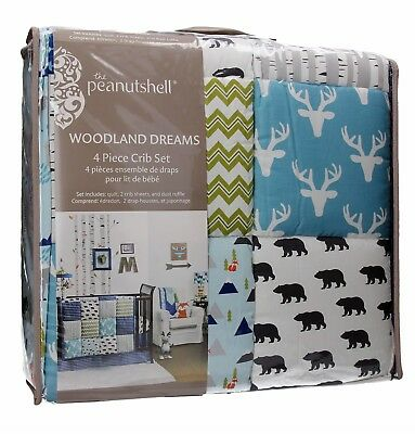 Woodland Dreams 4 Piece Baby Crib Bedding Set By The Peanut
