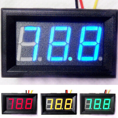 Led Digital Display Panel Voltmeter Volt Voltmeter Auto Motor Dc 0-100V