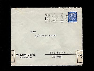 Germany Early WWII Scarce Censor Customs Used 1939 Krefeld Cover 8p