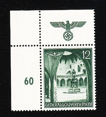 Germany WWII Occupied Poland 1940 Buildings Eagle Swastika # Selvage 12gr MNH K