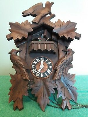 Vintage Black Forest Musical Cuckoo Clock~Dancers~Spares Or Repairs~A.schneider~