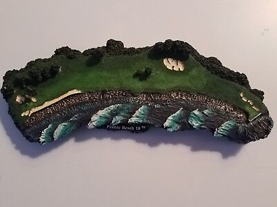 THE 18TH AT PEBBLE BEACH 1994 DANBURY MINT LEGENDARY GOLF HOLES collectible gift
