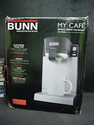 Bunn My Cafe Pod Coffee Maker Brewer Model Mc New In Box R 37