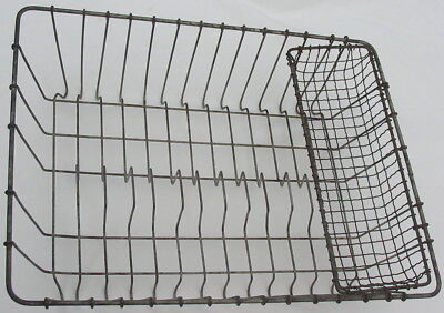 Vtg Antique Primitive Metal Wire Dish Drying Rack Rustic Country Plate Drain Old
