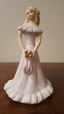 New Enesco Growing Up Girls Figurine, Blonde, Age 16