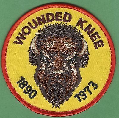 Aim American Indian Movement Wounded Knee 1890-1973 Buffalo Head Patch