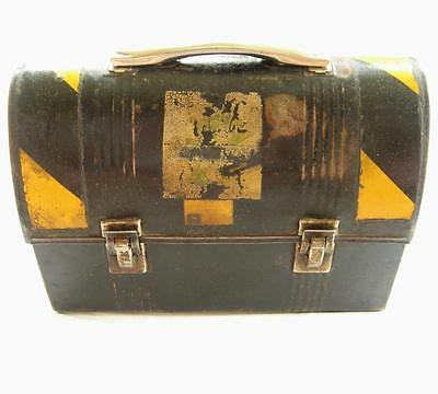 Vintage John Deere Employee Lunch Box Thermos Brand Dome Pail Factory Plow Works