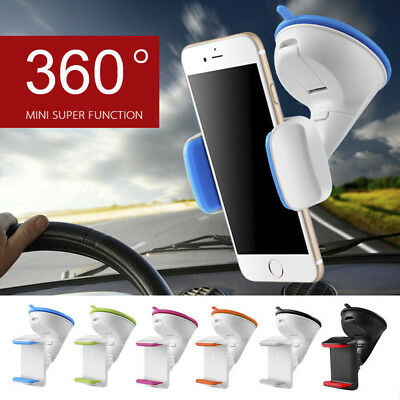 360° Car Windshield Mount Holder Stand Bracket For Mobile Cell Phone GPS iPhone