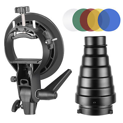 Neewer S-Type Bracket Holder and Conical Snoot Kit for Flash Softbox Umbrella