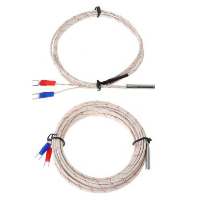Thermocouple Temperature Controller Sensor 0-600C K Type Wire 5x30mm 1M 5M Probe