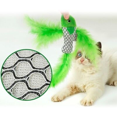 Funny Cat Toy Fish Shape Feather With Catnip Mint Chewing Pet Kitten Interactive