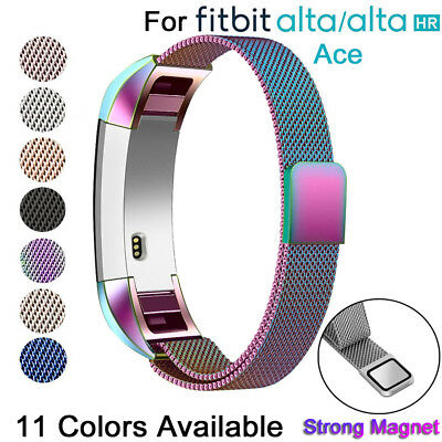 Replacement Stainless Steel Magnetic Milanese Band Strap For Fitbit Alta ACE HR