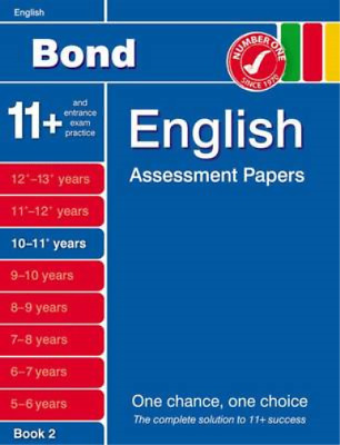 Bond English Assessment Papers 10-11+ Years Book 2, Lindsay, Sarah, Used; Good B