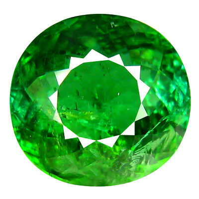 5.90 ct Pleasant Oval Shape (11 x 10 mm) Mozambique Green Tourmaline Gemstone