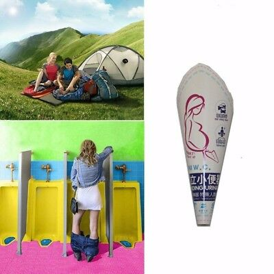 10Pcs Portable Disposable Female Funnel Women Stand Urinal Pee EP Travel RT4N