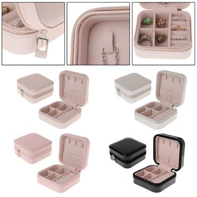 Women Jewelry Box Portable Storage Organizer Zipper Portable Display Travel Case
