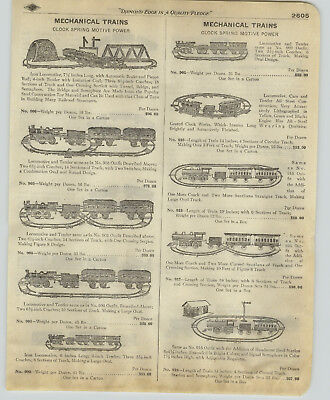 1918 PAPER AD Cast Iron Clock Spring Motor Toy Mechanical Train Overland Flyer