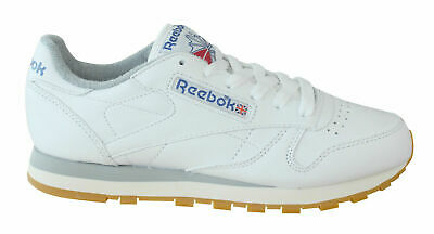 Reebok Classic Leather R12 Mens Trainers Lace Up White Leather M45029 U62 c8229f8cd
