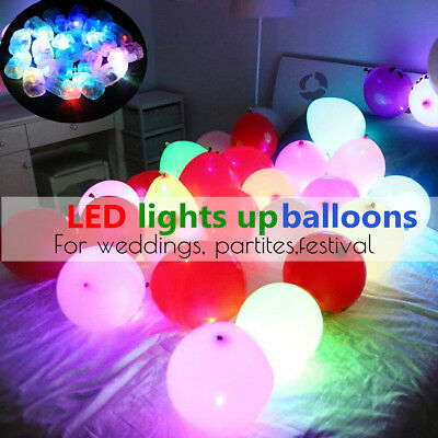 Led Colour Changing Balloons Light Up Glow In The Dark Party Birthday Decoration